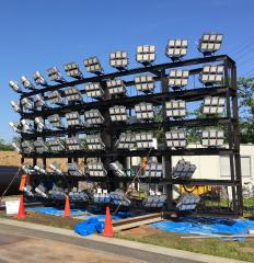 川口運動公園野球場ナイター照明設備工事